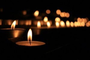 Candles at Yoga Nidra