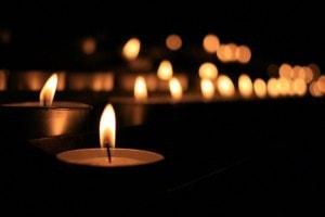 Candles at Yoga Nidra
